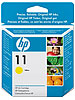 hp Original Tintenpatrone C4838AE (No.11), yellow hp Original HP Tintenpatronen