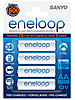 SANYO Eneloop Micro AAA 750 mAh Akkubatterie, ready to use, 4er-Set