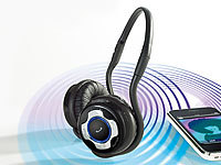 Callstel Stereo-Headset mit Bluetooth & Nackenbügel, klappbar Callstel On-Ear-Headsets mit Bluetooth