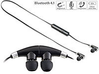 auvisio In-Ear-Stereo-Headset mit Magnet, Bluetooth 4.1 auvisio Bluetooth-Kopfhörer und -Headsets (In-Ear)
