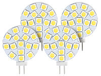 Luminea High-Power G4-LED-Stiftsockel mit SMD5050-LEDs, 3 W, warmweiß, 4er-Set Luminea LED-Stifte G4 (warmweiß)