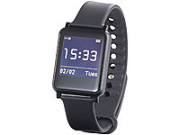 simvalley MOBILE Bluetooth-4.0-Smartwatch SW-200.hr, Fitness, Puls, Benachrichtigungen simvalley MOBILE Smartwatches mit Pulssensor für iPhone & Android