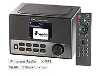 VR-Radio WLAN-Internetradio mit Wecker, USB-Ladestation, 8 Watt, 8,1 cm TFT VR-Radio Internetradios Wecker & USB Ladestationen