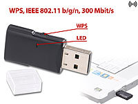 7links Mini-USB-WLAN-Stick WS-300 mit 300 Mbit/s und WPS-Taste 7links WLAN-USB-Sticks