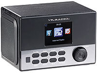VR-Radio WLAN-Stereo-Internetradio, DAB+, Wecker, USB, 20 W, 8,1-cm-Display VR-Radio Internetradio-Wecker mit DAB+ und USB-Ladestationen