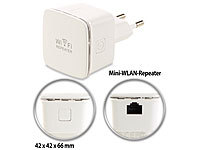 7links Mini-WLAN-Repeater WLR-350.sm mit Access-Point & WPS-Knopf, 300 Mbit/s 7links WLAN-Repeater