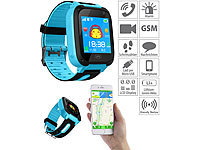 TrackerID Kinder-Smartwatch mit Telefon, GSM/LBS-Tracking, SOS-Funktion, blau TrackerID Kinder-Smartwatches mit GSM- & LBS-Tracking