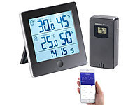 infactory Thermo-/Hygrometer-Datenlogger mit Außensensor, Bluetooth & App infactory Thermometer/Hygrometer-Datenlogger mit Apps
