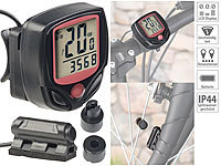 PEARL sports Digitaler 15in1-Fahrrad-Computer mit LCD-Display & Radsensor, IP44 PEARL sports Fahrradcomputer