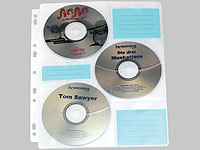General Office CD/DVD Ringbucheinlagen 2 x 3 für 60 CD/DVD General Office CD/DVD-Ringbuch Hüllen