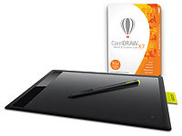 CorelDraw Home & Student Suite X7 inkl. Wacom One M Grafiktablett Corel Grafik-Software und Grafik-Tablett