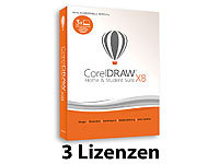 CorelDRAW Home & Student Suite X8 (3 Lizenzen) Corel Layout-Programme (PC-Software)