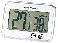 PEARL Digitales Thermometer & Hygrometer mit Minimum / Maximum, Touch PEARL Digitale Thermometer/Hygrometer