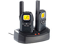 simvalley communications Profi-Walkie-Talkie-Set WT-100, bis 10 km simvalley communications Walkie-Talkies