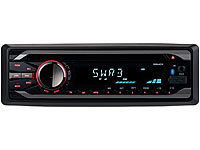 Creasono MP3-Autoradio mit Bluetooth, CD Player, USB, SD, RDS, 4x 50 Watt Creasono Bluetooth-Autoradios (1-DIN) mit CD-Player