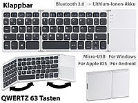 GeneralKeys Faltbare Tastatur mit Bluetooth, Touchpad für Android, iOS und Windows GeneralKeys Tastaturen mit Touchpads und Bluetooth, für Android, iOS & Windows
