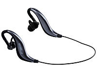 auvisio Sport-Headset mit Bluetooth 4.1, IPX4 auvisio Wasserdichte Bluetooth Headsets