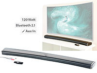 auvisio 2.1-HiFi-Soundbar MSX-550.cv für Curved-TV, 120 Watt, mit Bluetooth auvisio 2.1-Soundbars mit Bluetooth
