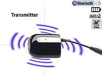 auvisio Bluetooth-4.0-Transmitter, Audio-Sender mit Akku und aptX-Technologie auvisio Bluetooth-Audio-Transmitter