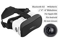 auvisio Virtual-Reality-Brille V6 mit Bluetooth, Magnetschalter, 42-mm-Linsen auvisio