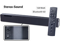 auvisio Stereo-Soundbar mit Bluetooth 4.0, 2 integr. Subwoofern, DSP, 120 Watt auvisio 2.1-Bluetooth-Soundbars