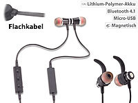 auvisio Magnetisches In-Ear-Stereo-Headset, BT 4.1, Multipoint & Auto-Connect auvisio Magnetische Bluetooth-Stereo-Ohrhörer-Headsets mit Auto-Connect