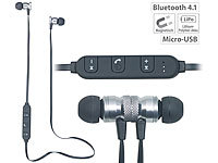 auvisio In-Ear-Stereo-Headset SH-30 mit Bluetooth 4.1 und Magnetverschluss auvisio In-Ear-Stereo-Headsets mit Bluetooth