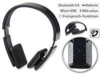 auvisio Faltbares On-Ear-Headset, Bluetooth, Auto-Pairing, Multipoint, 30 m auvisio Faltbare Bluetooth-Headsets (On-Ear)
