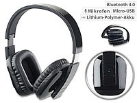auvisio Faltbares Bluetooth-Over-Ear-Headset mit Auto-Pairing & Multipoint auvisio Faltbare Bluetooth-Headsets (Over-Ear)