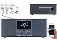 VR-Radio Digitales DAB+/FM-Stereo-Radio, Bluetooth & Wecker, 30 Watt, schwarz VR-Radio Digitale DAB+/FM-Radios mit Wecker