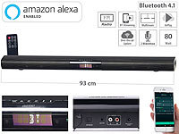 auvisio Aktive WLAN-Multiroom-Soundbar, Bluetooth, komp. zu Amazon Alexa, 80 W auvisio