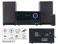 auvisio Micro-Stereoanlage, CD-Player, Radio, MP3-Player, Bluetooth, 60 Watt auvisio Micro-Stereoanlagen mit Bluetooth