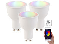 Luminea 3er-Set WLAN-LED-Lampen, Amazon Alexa & Google Assistant komp., GU10 Luminea