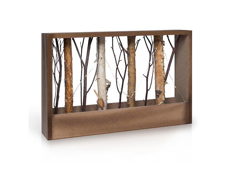 Naturfarbener Holz Deko Rahmen Mit Ästen, Querformat