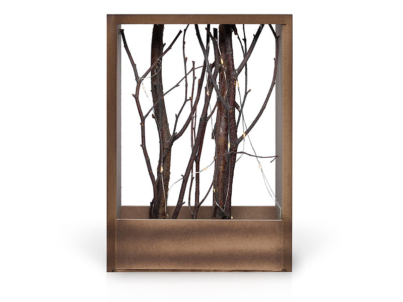 naturfarbener holz deko rahmen mit sten hochformat. Black Bedroom Furniture Sets. Home Design Ideas