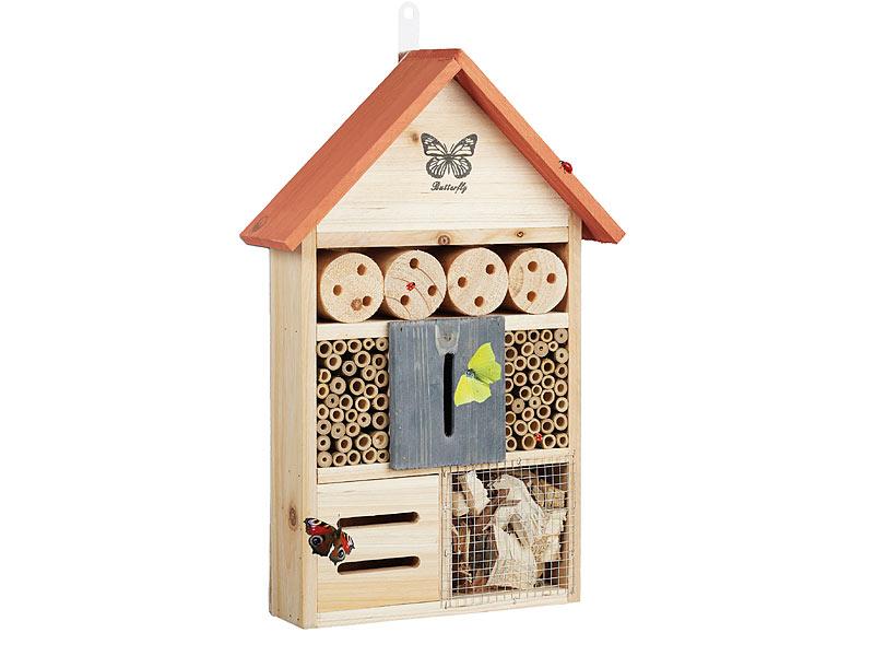insektenhotel und nisthilfe f r bienen und schmetterlinge. Black Bedroom Furniture Sets. Home Design Ideas