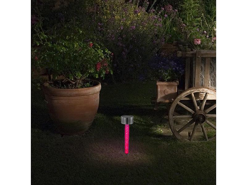 led solar leuchtst be im 2er set mit rgb farbwechsel. Black Bedroom Furniture Sets. Home Design Ideas