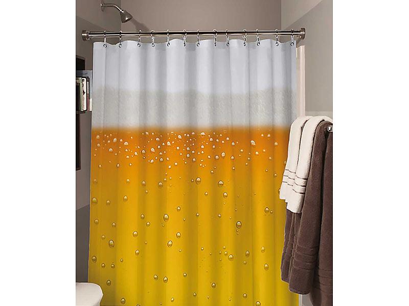 origineller duschvorhang f r bier liebhaber 180 x 180 cm. Black Bedroom Furniture Sets. Home Design Ideas