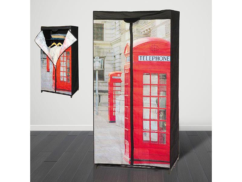 trend stoff kleiderschrank telefonzelle. Black Bedroom Furniture Sets. Home Design Ideas