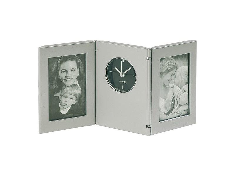 sch ne klappbare tischuhr mit 2 bilderrahmen batterie. Black Bedroom Furniture Sets. Home Design Ideas