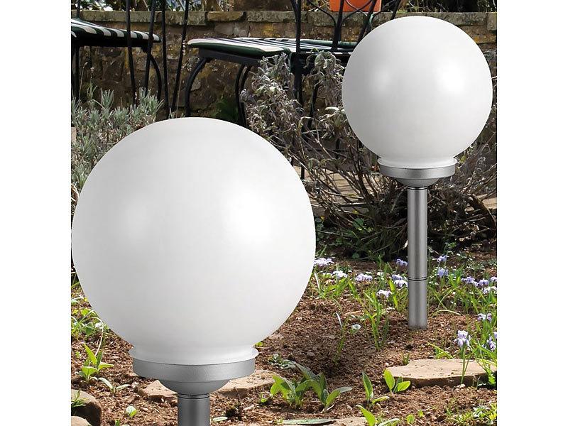 solar leuchtkugel led 30 cm im 3 er set. Black Bedroom Furniture Sets. Home Design Ideas