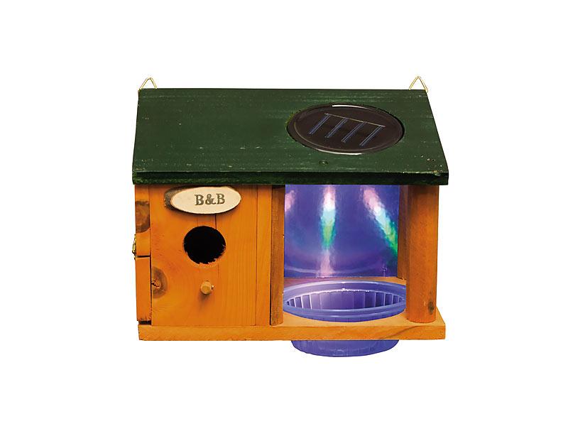 solar vogelhaus mit wasserstelle und beleuchtung. Black Bedroom Furniture Sets. Home Design Ideas