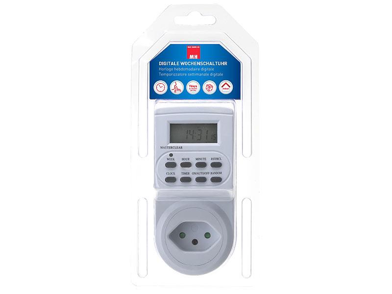 Digitale Zeitschaltuhr Kinderschutz / Zufallsgenerator Suisse T12 T13