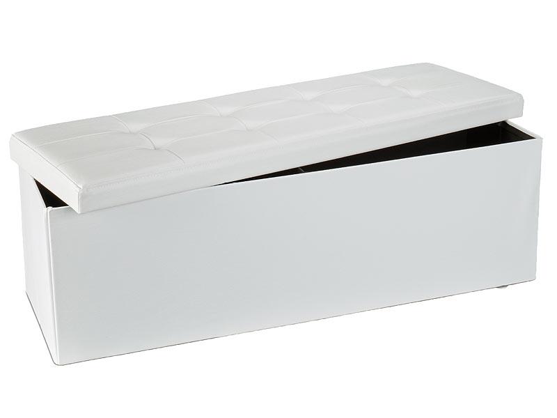 grosse sitzbank und aufbewahrungsbox weiss. Black Bedroom Furniture Sets. Home Design Ideas