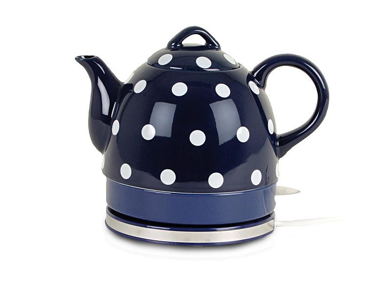kabelloser keramik wasserkocher teekanne blau. Black Bedroom Furniture Sets. Home Design Ideas
