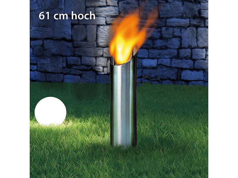 Bio ethanol feuers ule 61 cm hoch - Feuerschalen ethanol garten ...