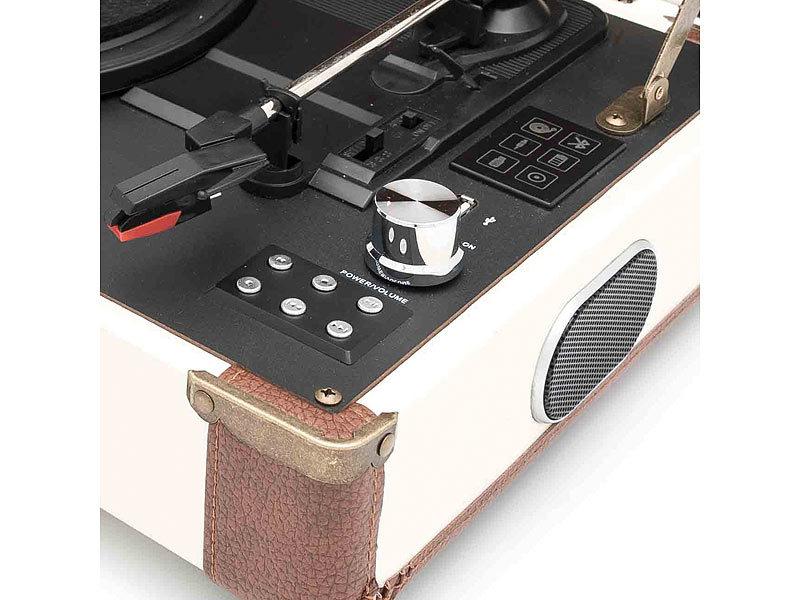 gpo ambassador kofferplattenspieler mit akku bluetooth mp3 konverter. Black Bedroom Furniture Sets. Home Design Ideas