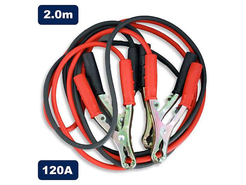 Starthilfekabel 2 Meter 120 Ampere Überbrückungskabel für Ihr Auto
