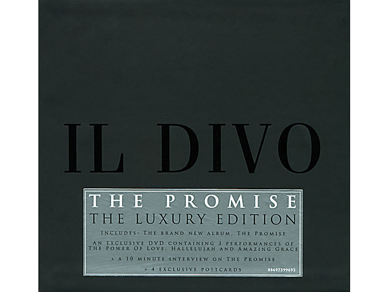 Il divo the promise deluxe edition cd dvd for Il divo amazing grace mp3
