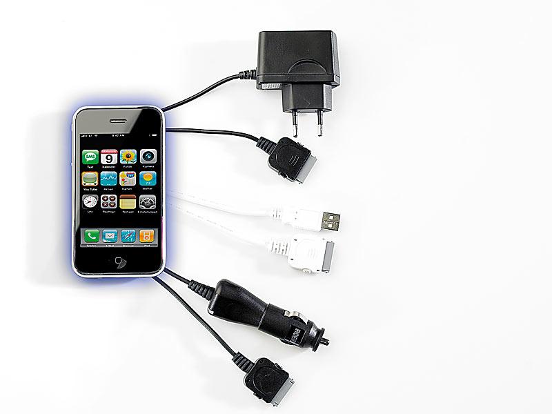 3in1 komplett set f r iphone 3gs usb kabel 12v ladekabel. Black Bedroom Furniture Sets. Home Design Ideas